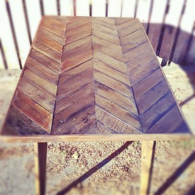 Custom Made Herringbone Dining Table