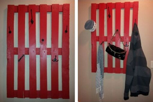 Custom Made Half Pallet Wall Rack (Layout)