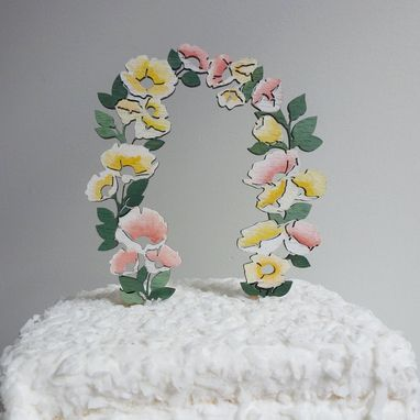 Custom Made Flower Cake Topper