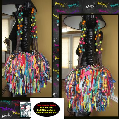 Custom Made Beaded Fringe Purse, Custom Made,Unique,One Of A Kind,Upcycle,Jewels,Rhinestones