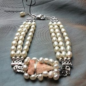 Custom Made Bridal Pearl Vintage Inspired Bracelet