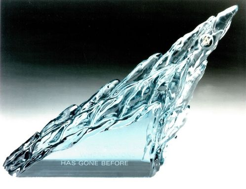 Custom Made Unique Sculpted Glass Science Fiction Award