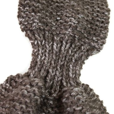 Custom Made Keyhole Scarf Brown Multi Winter Warm