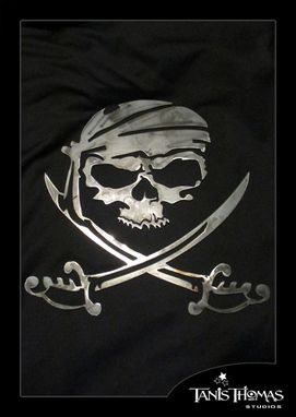 Custom Made Pirate Metal Wall Art