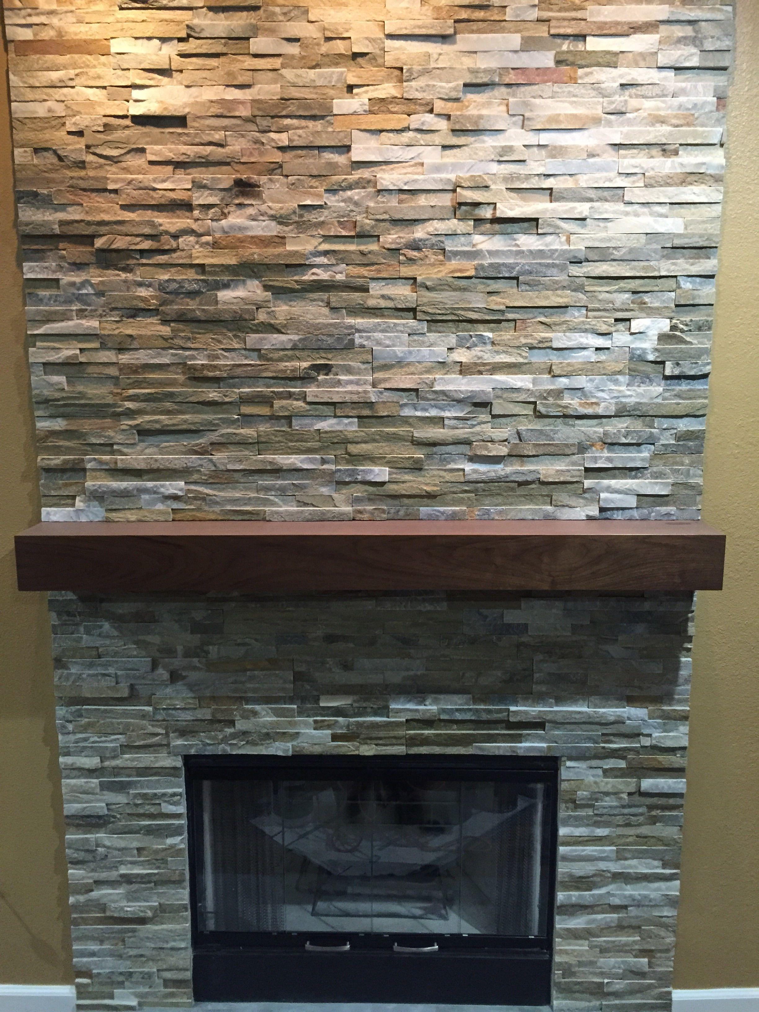 Buy A Hand Crafted Walnut Modern Fireplace Mantel Made