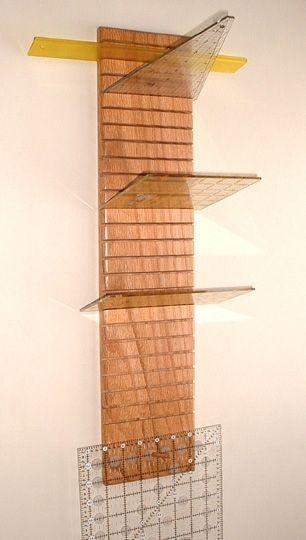Custom Quilter's Hanging Ruler Rack by Red Lion Woodcraft ... : quilt ruler holder - Adamdwight.com