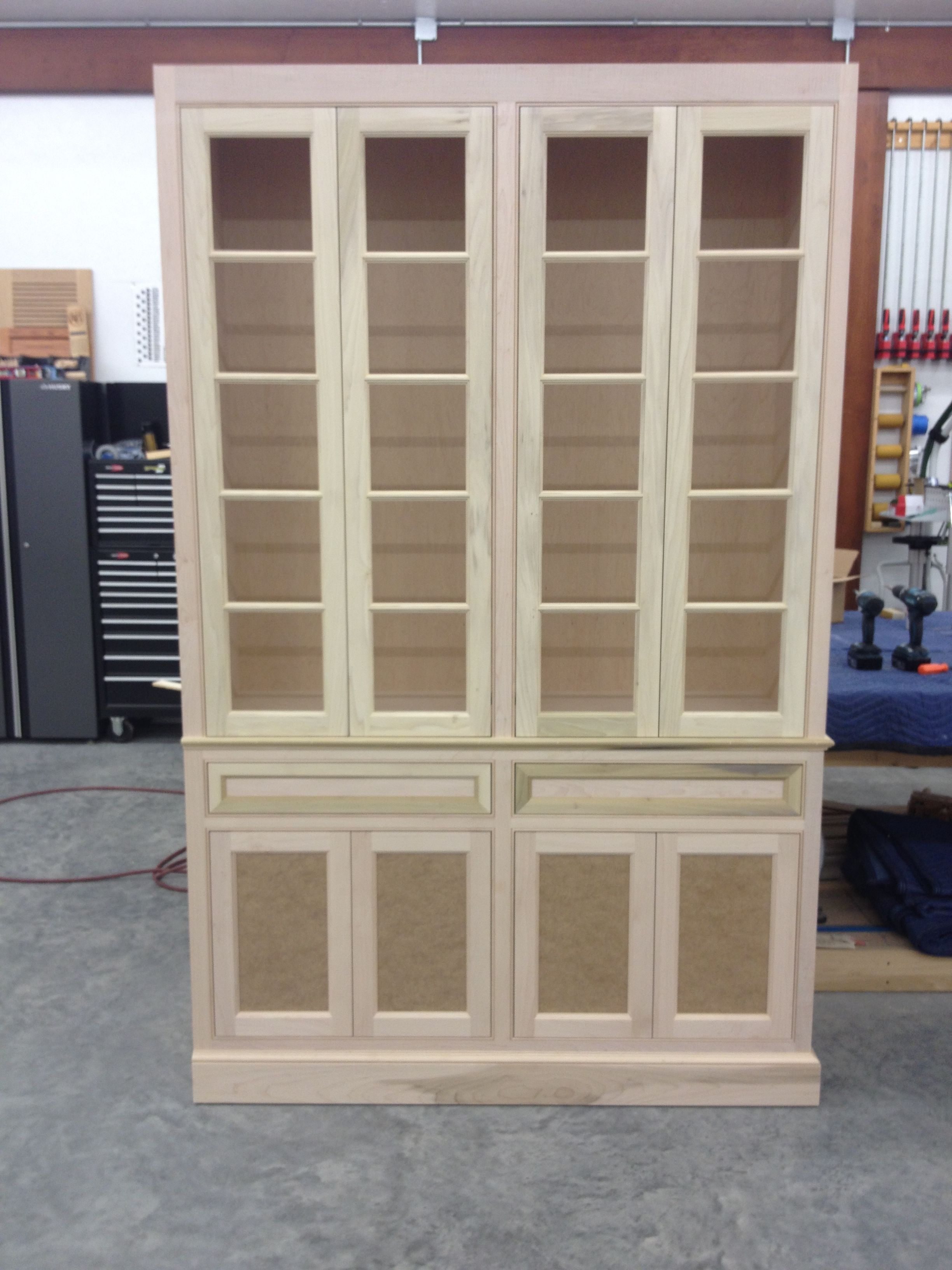 Custom Made Unfinished China Cabinet Built In