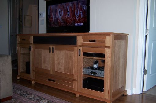 Custom Made Tv Lift Credenza