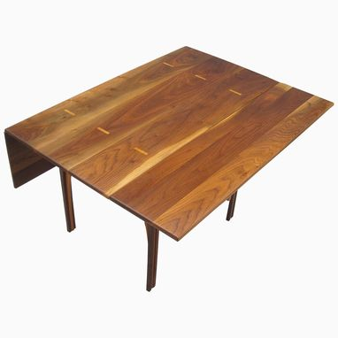 Custom Made Solid Walnut Drop Leaf Table