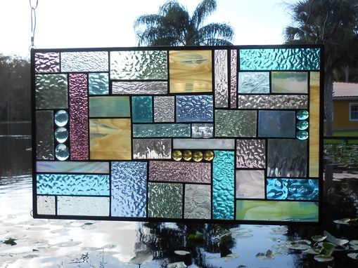 Custom Made Stained Glass Panel Patchwork Quilt Window Valance Stained Glass Quilt