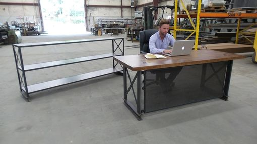 Buy A Handmade The Industrial Carruca Office Desk Made To