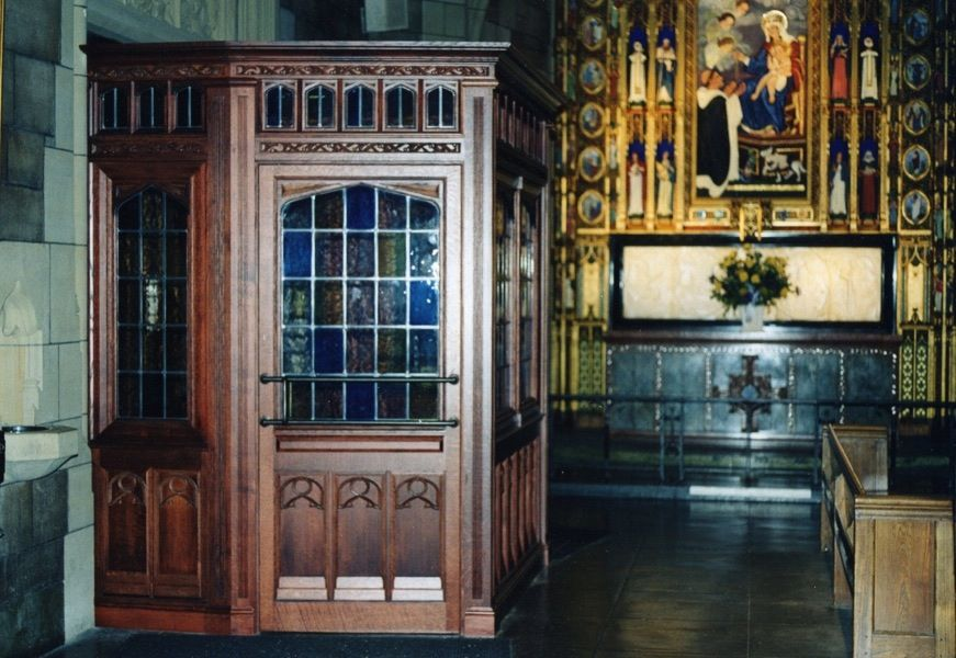 Hand Made Church Vestibule Architectural Millwork By
