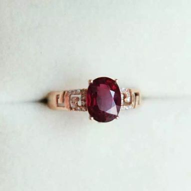 Custom Made 2.02 Carat Tourmaline In 14k Rose Gold