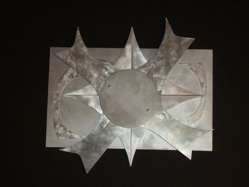 Custom Made Found/Recycled Metal Sculpture Aluminum Wall Hanging Q'Plah