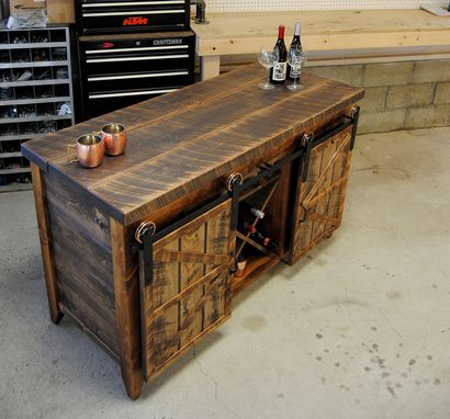 Custom Made Wine Storage Dry Bar- Buffet Table -Serving Table