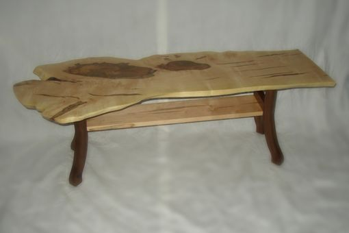Custom Made Red Maple Slab Coffee Table