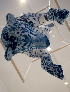 Custom Made Jaguar: Magnetic Cyanotype Sculpture