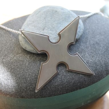 Custom Made Sterling Shuriken Pendant