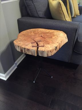 Custom Made End Table With Bowties