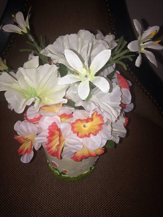 Buy Hand Crafted Spring And Summer Silk Flower Arrangement
