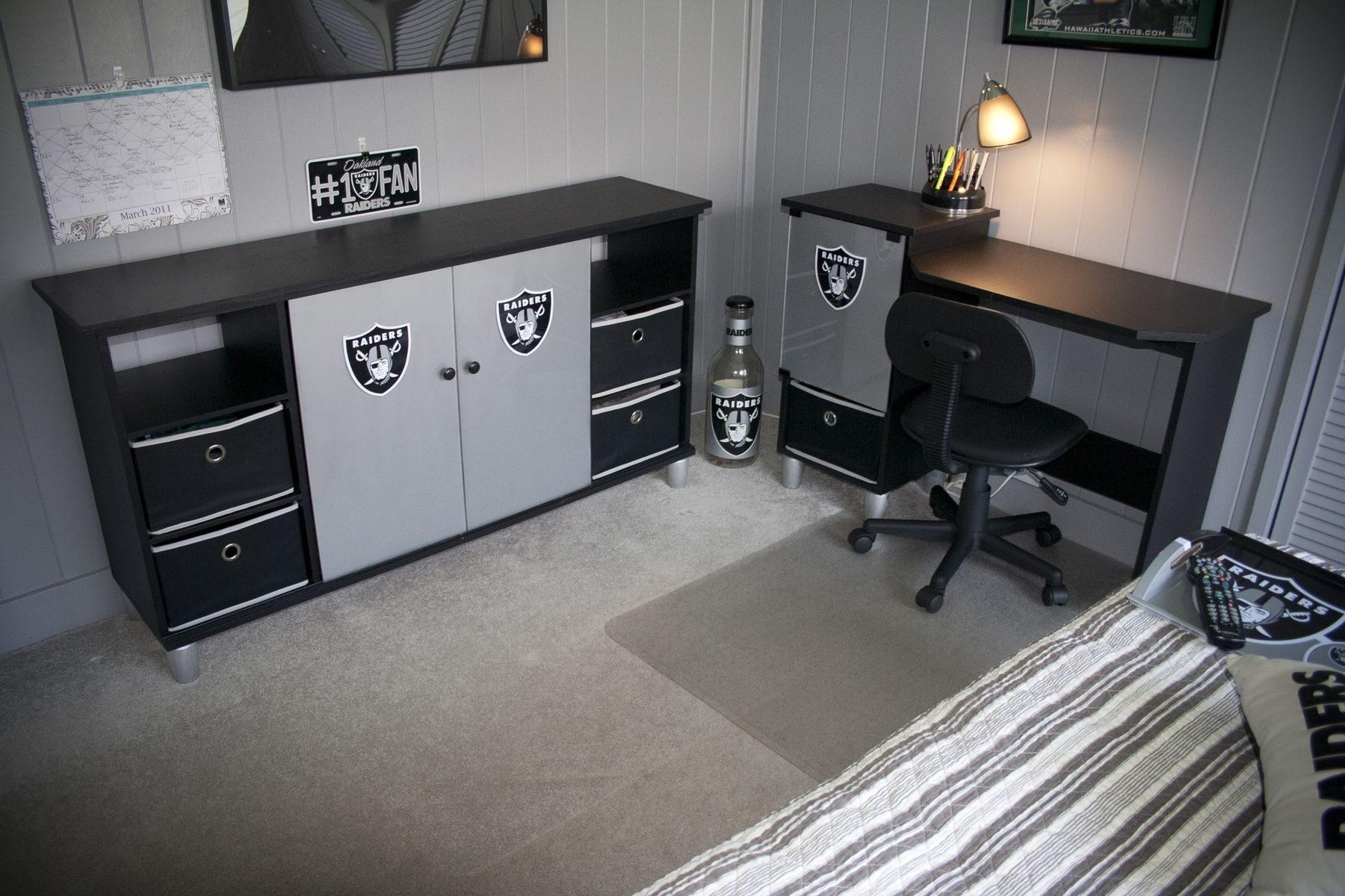 Handmade Raiders Desk Amp Entertainment Center By Thinkjet