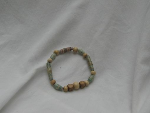Custom Made Paper Bead Bracelets