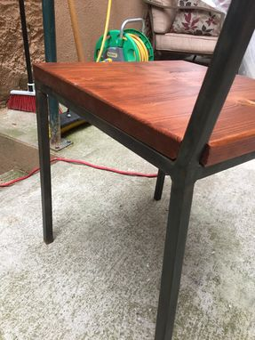 Custom Made Modern Steel & Grain Dining Chair