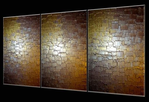Custom Made Abstract Painting, Gold Silver Original Art, Textured Palette Knife Paintings Lafferty - 72x30