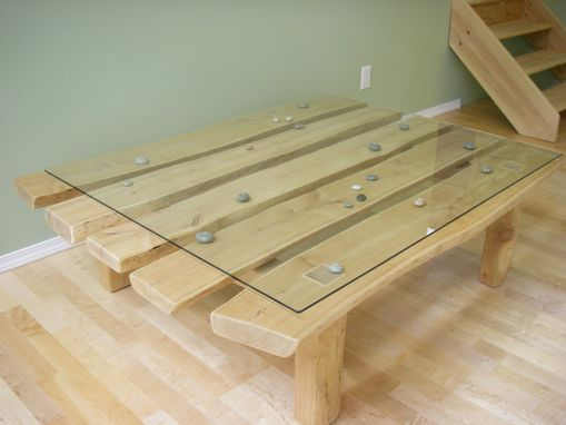 "Custom Made Coffee Table ""Pebbles"""