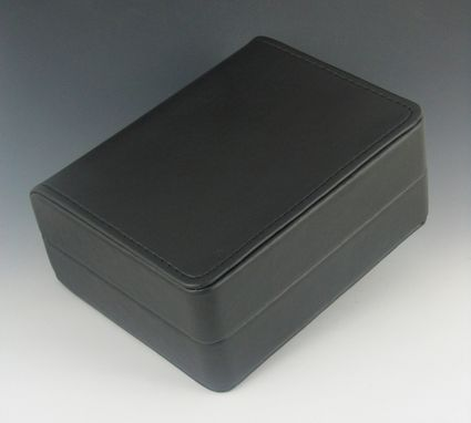 Custom Made Gift Boxes, Black Leatherette