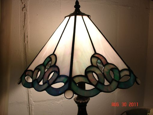 Custom Made Stained Glass Ribbon Panel Lamp