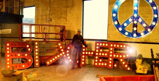Custom Made Largest Outdoor Vintage Marquee Art In South Bend, In