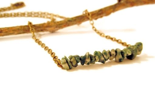 Custom Made Tree Agate Row Necklace