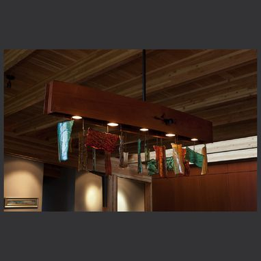 Custom Made Black Locust & Glass Dining Fixture