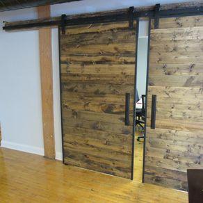 brian built barn doors. Industrial Reclaimed Barn Doors On Steel Track Brian Built