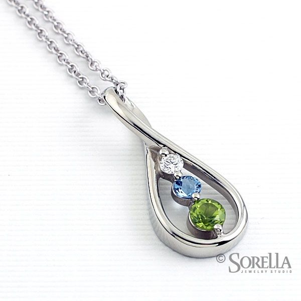 aquamarine swiss birthstone created american march product pendant necklace