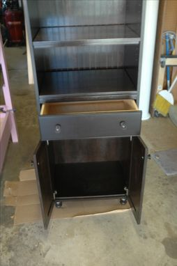Custom Made Stand Alone Storage Cabinet