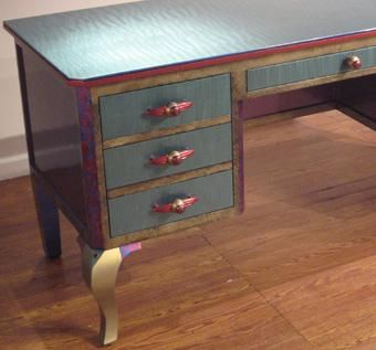 Custom Made Jitterbug Desk With Cabriole Legs