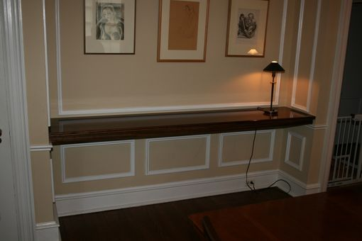 Custom Made Walnut Diningroom Shelf