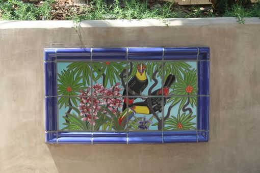Custom Made Toucan And Orchard Tropical Mural