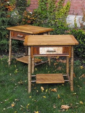 Custom Made Pair Of Adirondack Nightstands