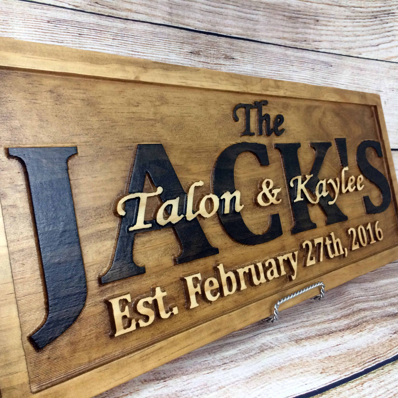 Custom Made Wedding Sign Decor Banner Gift Family Name Anniversary