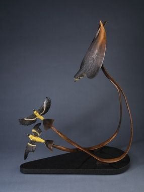 Custom Made Peregrine Falcon Bronze Sculpture