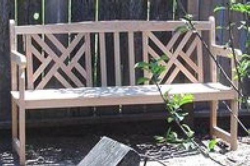 Custom Made Chippendale Garden Bench