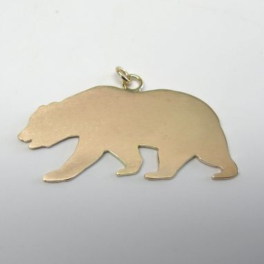 Custom Made California Grizzly Bear Pendant