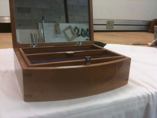 Custom Made Jewelery Box Of Sapele With Secret Magnetic Lock