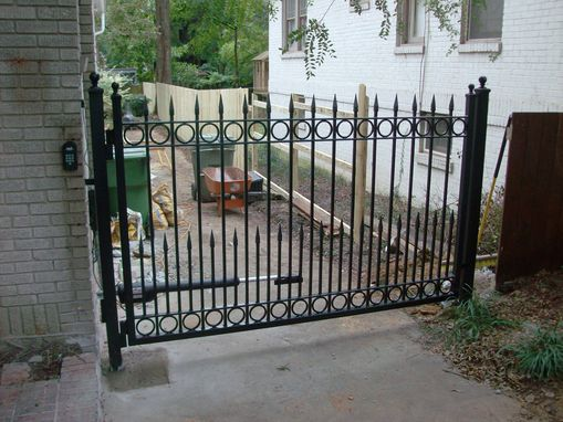 Custom Made Gates With Rings And Puppy Pickets