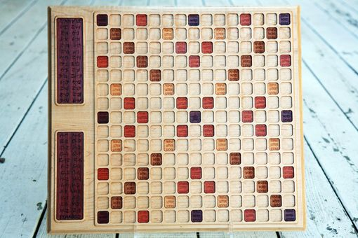 Custom Made Maple Scrabble Board