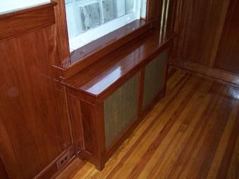 Custom Made Mahogany Wainscot And Trim