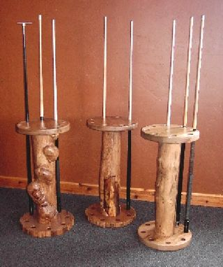 Custom Made 8-Place Cue Stands